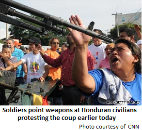 Honduras protesters
